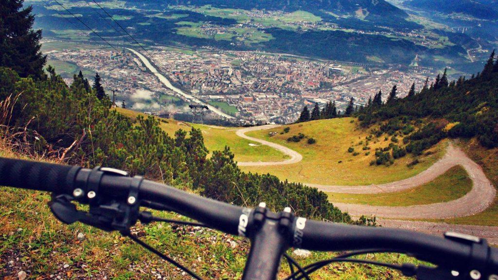 mountainbiken en bochtentechniek