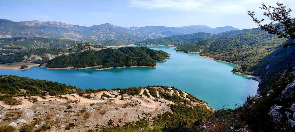 Lake Bovilla hike hiken wandelen Albanie