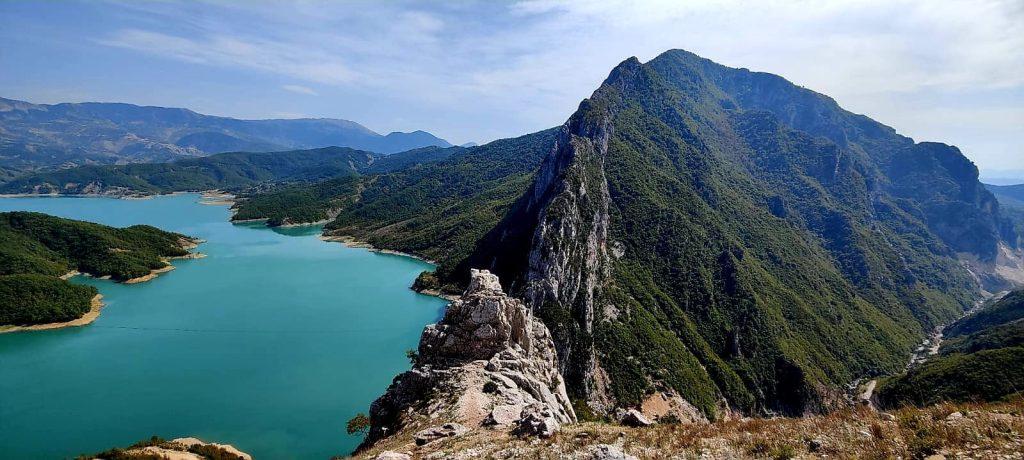 Bovilla meer hike Albanie